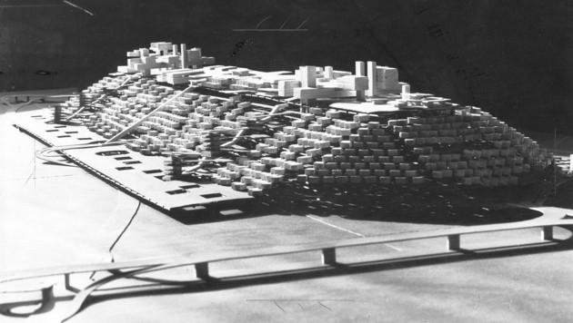 """Modell für den """"Stadtberg""""von Hubert Hoffmann (1968)"""
