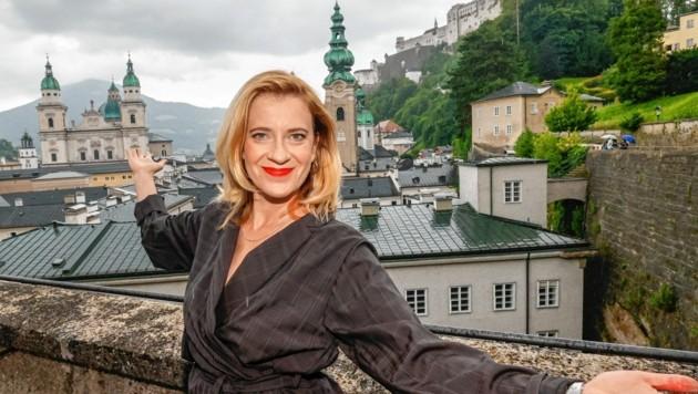 Top-Mimin Caroline Peters wird heuer in Salzburg die Buhlschaft geben.