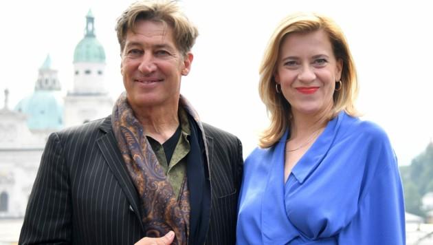 Tobias Moretti und Caroline Peters (Bild: APA/BARBARA GINDL)