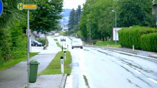 Die Bushaltestelle in St. Georgen (Bild: Einöder Horst)