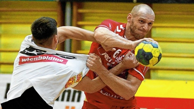 Goran Kolar kam als junger Bursch zu Bärnbach/Köflach - jetzt beendete der 36-Jährige (r.) seine Karriere. (Bild: GEPA pictures)