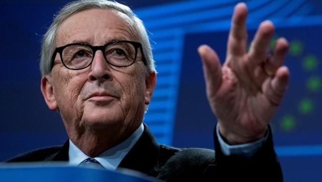Jean-Claude Juncker äußert erneut Kritik an der Solidarität Österreichs mit der EU. (Bild: Kenzo TRIBOUILLARD / AFP)