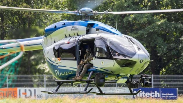 Auch per Polizeihubschrauber wurde nach dem Flüchtigen Yves R. gesucht.