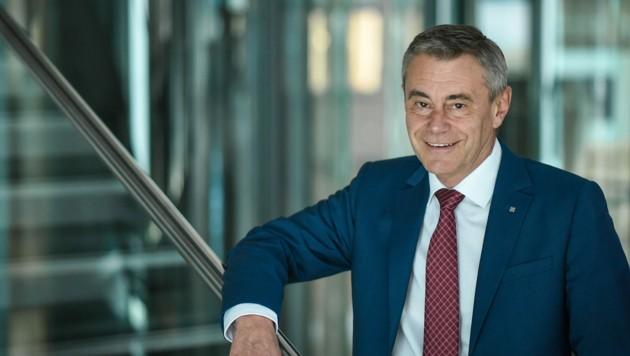 Heinrich Schaller ist Generaldirektor der Raiffeisenlandesbank Oberösterreich. (Bild: Markus Wenzel)