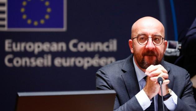 Der EU-Ratspräsident Charles Michel