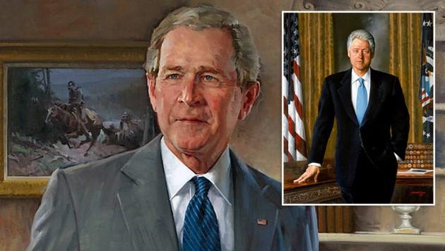 Diese beiden Porträts hängen nicht mehr im Eingangsbereich des Weißen Hauses. (Bild: whitehousehistory.org)