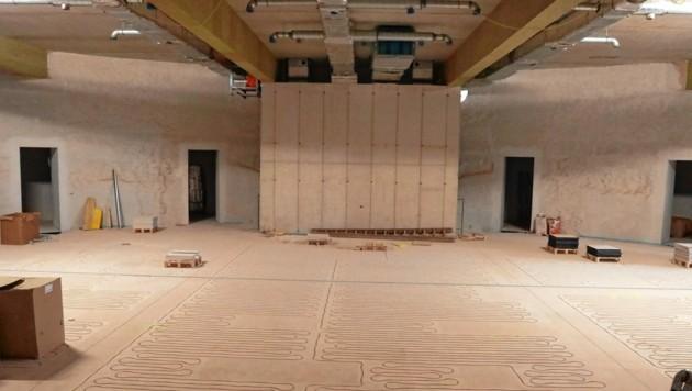 Unter dem historischen Sitzungssaal werden zwei Lokale für Untersuchungsausschüsse abhörgeschützt ausgebaut. (Bild: Zwefo)