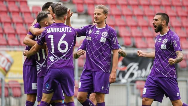 So will Fußball-Kärnten die Austria am Freitag jubeln sehen. . . (Bild: GEPA)