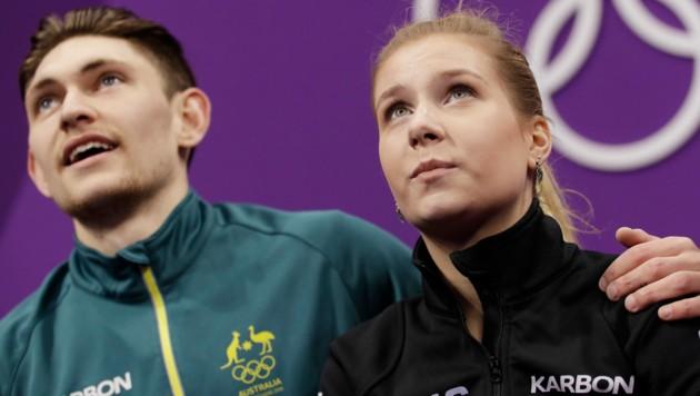 Jekaterina Dmitrijewna Alexandrowskaja mit Partner Harley Windsor (Bild: Associated Press)
