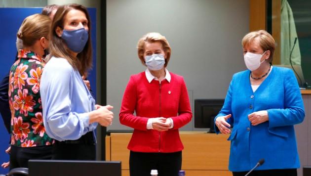 Eine Forderung Guterres: Es brauche mehr Frauen in Führungspositionen (hier im Bild: Die Regierungschefinnen im Zuge des EU-Sondergipfels in Brüssel)