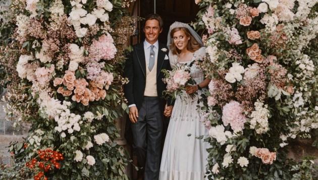 Zur Trauung trug Prinzessin Beatrice ein Kleid der Queen.