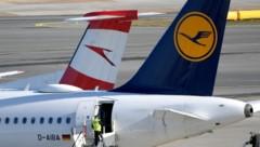 Durch die Corona-Krise sind die Austrian Airlines und deren Eigentümerin, die deutsche Lufthansa, in massive Turbulenzen geraten. (Bild: APA/ROLAND SCHLAGER)