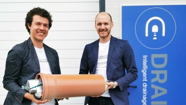 Starten international mit ihrer Tunnel-Anwendung durch: die DrainBot-Gründer Slaven Stekovic und Philipp Lepold (v. l.)