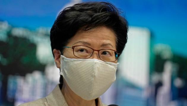 Hongkongs Regierungschefin Carrie Lam sorgt sich um die rasant steigenden Infektionszahlen.