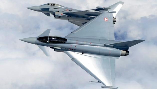 2002 angeschafft, seitdem ungeliebt: die Eurofighter des österreichischen Bundesheeres (Bild: Eurofighter GmbH)