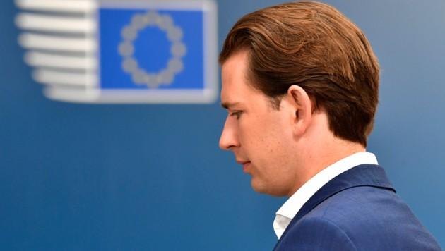 Bundeskanzler Sebastian Kurz fordert in den Augen vieler EU-Regierungschefs zu viel. (Bild: APA/AFP/POOL/JOHN THYS)