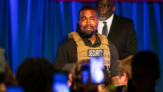 Kanye West brach während seiner wirren Wahlkampfrede in Tränen aus.