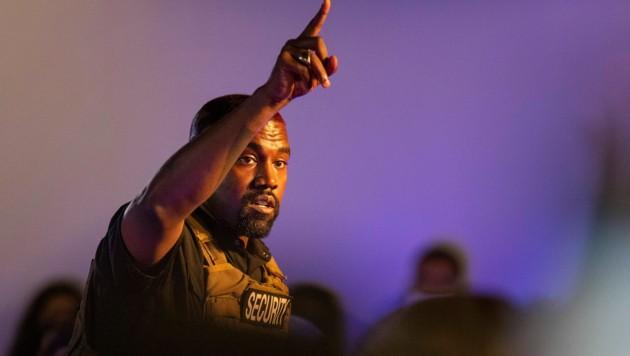 Kanye West bei seiner ersten Wahlkampfveranstaltung