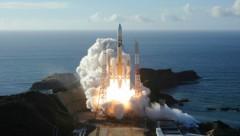 Die H-IIA im Tanegashima Space Center in Kagoshima (Bild: MHI via AP)