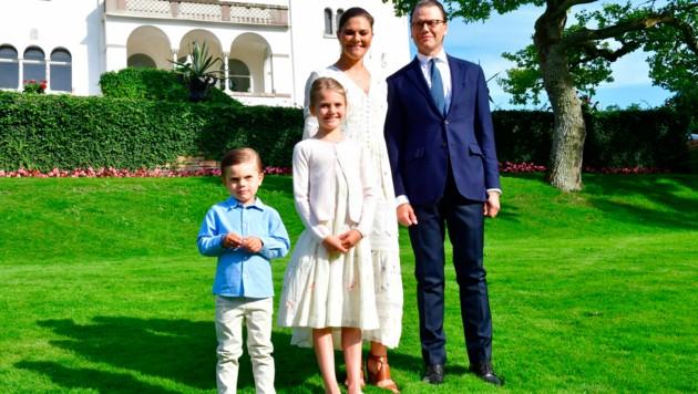 Kronprinzessin Victoria feierte ihren Geburtstag heuer sehr privat auf Schloss Solliden in Öland.