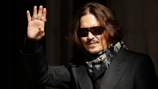 Johnny Depp auf dem Weg ins Gericht in London