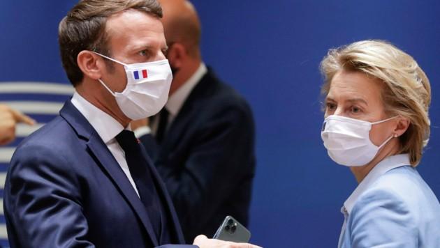 Emmanuel Macron und Ursula von der Leyen