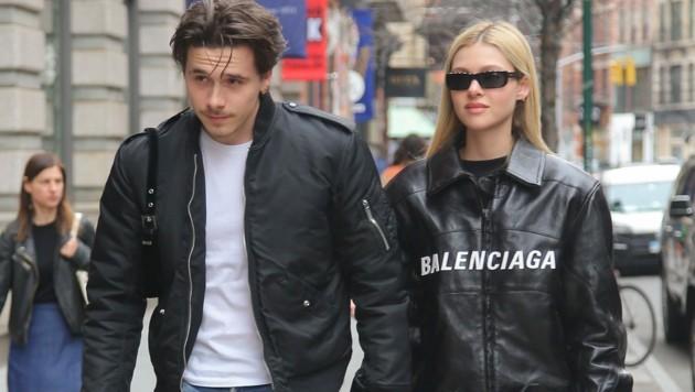 Brooklyn Beckham und seine Verlobte Nicola Peltz (Bild: www.PPS.at)