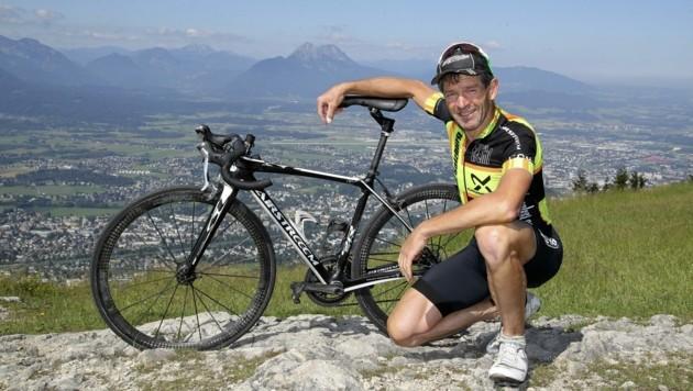 Auf seinem Trainingsberg fast jeden Tag anzutreffen: Rad-Evergreen Pauli Lindner. (Bild: Tröster Andreas)
