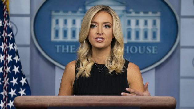 Trump-Sprecherin Kayleigh McEnany verteidigt Donald Trumps Krisenmanagement in der Covid-Pandemie. (Bild: Associated Press)