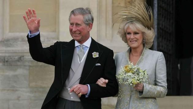 Prinz Charles und Herzogin Camilla nach ihrer Hochzeit in Windsor