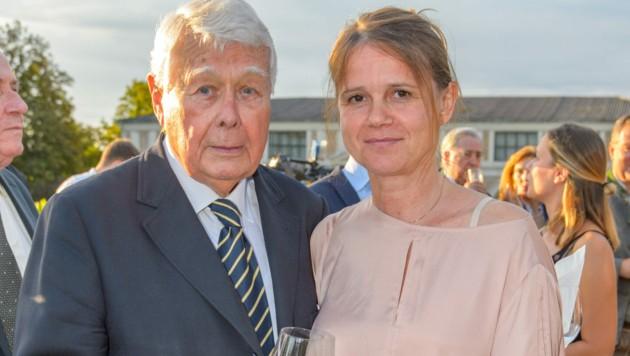 Peter Weck mit Joanna, der neuen Frau an seiner Seite
