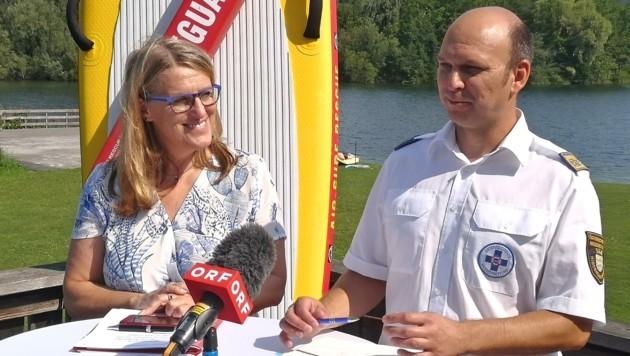 Präsident Schimböck mit Landesrätin Königsberger-Ludwig (Bild: Toni Heinzl)