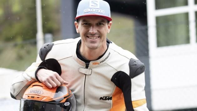 War schon in seiner Ski-Zeit Motorrad-Freak: Matthias Lanzinger. (Bild: Tröster Andreas)