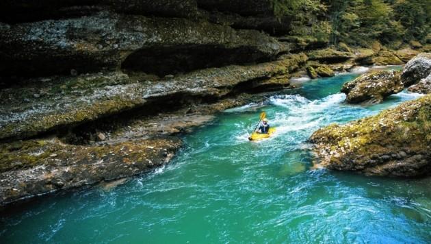 Das Gesäuse gilt als Eldorado für den Wildwasser-Sport.