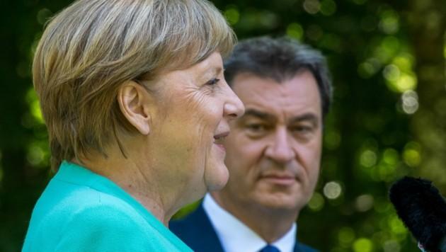CSU-Chef Markus Söder wird von vielen Seiten als Merkel-Nachfolger forciert. (Bild: Peter Kneffel / POOL / AFP)