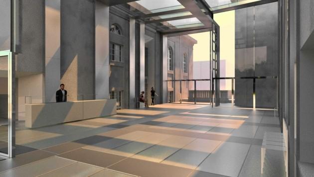 Das neue Foyer wird rund neun Millionen Euro kosten. Geplanter Baubeginn: September. (Bild: Stiftung Mozarteum)