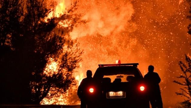 Nach längerer Trockenheit sind in Griechenland Dutzende Waldbrände ausgebrochen. (Bild: AFP)