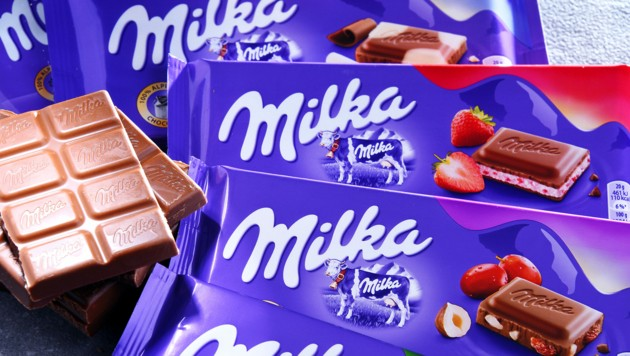 Milka Schokolade bleibt rechteckig.