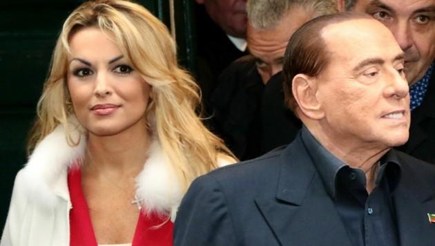 Silvio Berlusconi und Francesca Pascale (Bild: CARLO HERMANN / AFP / picturedesk.com)