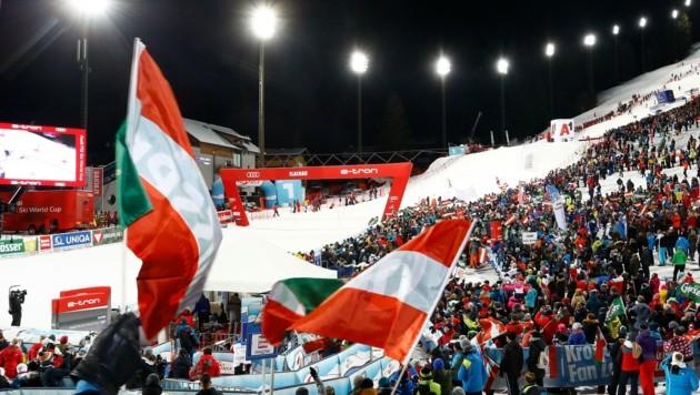 Bis zu 15.000 Fans in Flachau - ob das auch im Jänner 2021 möglich ist, steht in den Sternen.