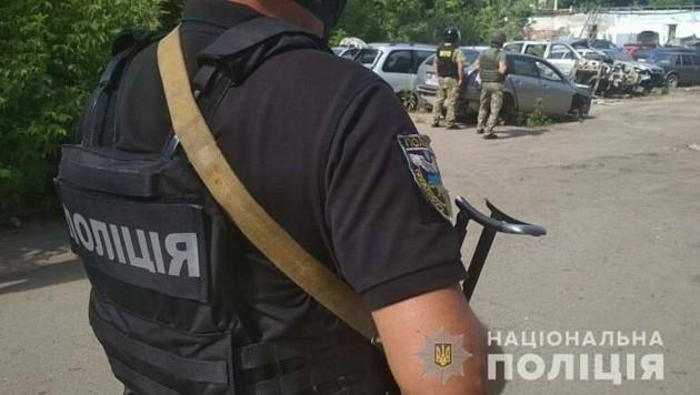 Dieses Bild vom Einsatz in Poltawa hat die ukrainische Polizei auf ihrer Facebookseite veröffentlicht.