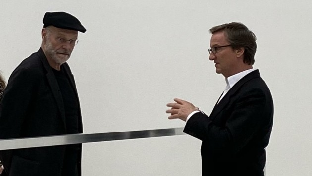 Maler Anselm Kiefer und Galerist Thaddaeus Ropac. (Bild: Courtesy Galerie Thaddaeus Ropac, London Paris Salzburg)
