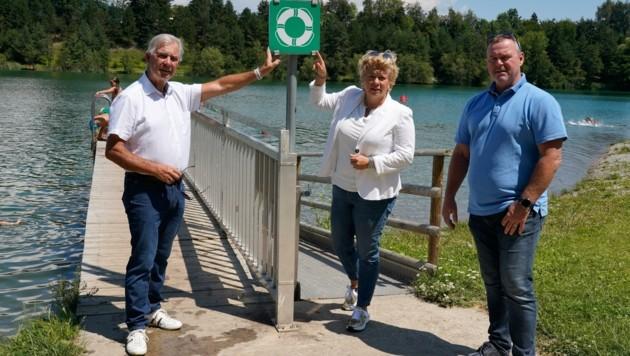 Appellieren, Rettungsringe an den Seen zu belassen: Sobe, Hochstetter-Lackner und Juvan.
