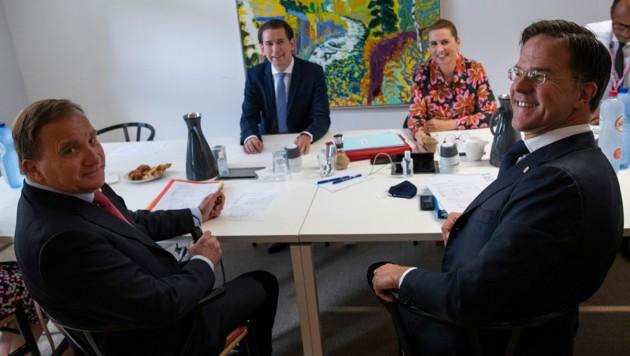 """Die """"Sparsamen Vier"""": Österreich, Niederlande, Schweden und Dänemark (Bild: AP)"""
