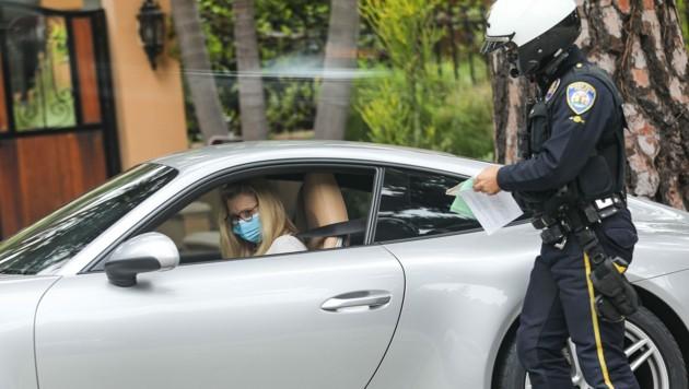 Lisa Kudrow wurde beim Schnellfahren ertappt.