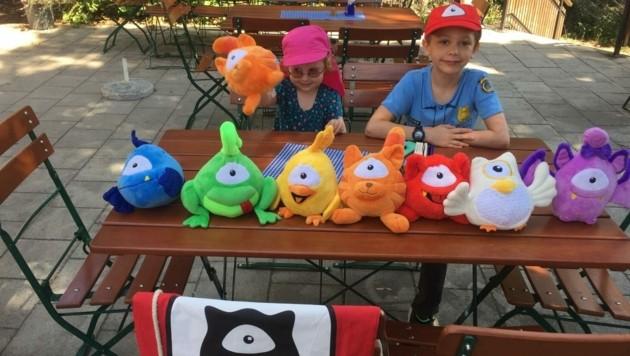 Paulina & Felix hatten sichtlich Spaß bei ihrem Abenteuer-Ausflug mit den Monstern.
