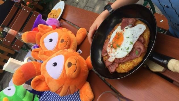 Auch Monsterfreunde haben bei ihrem Abenteuer am Harzberg Hunger bekommen (Bild: zVg)