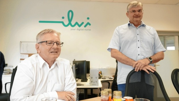 Firmengründer Erwin Berger (rechts) und der ilvi-Geschäftsführer Konrad Brunnader. (Bild: Sepp Pail)