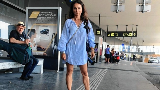 Auch Marlies Karger und ihrer Familie wurde der Flug verweigert