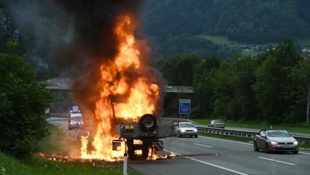 Brandursache dürfte ein technischer Defekt gewesen sein. (Bild: zoom.tirol)